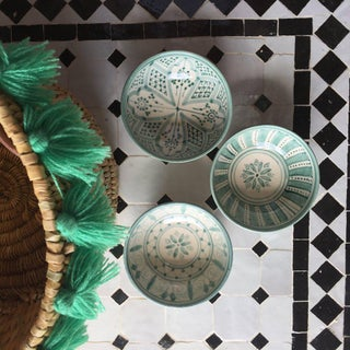 Moroccan Mint Green Tassel Large Basket Preview