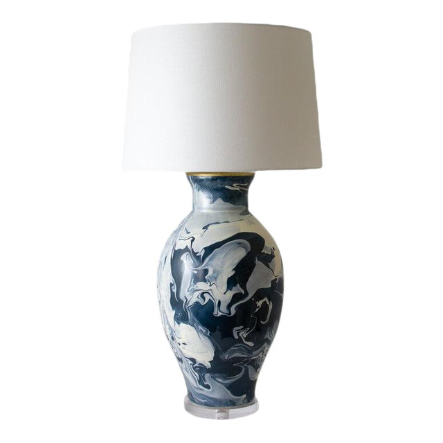 "Paul Schneider Ceramic ""Matagorda"" Lamp in Geode Ivory Glaze For Sale"
