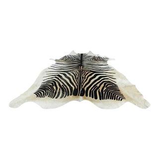Printed Zebra Cowhide Rug