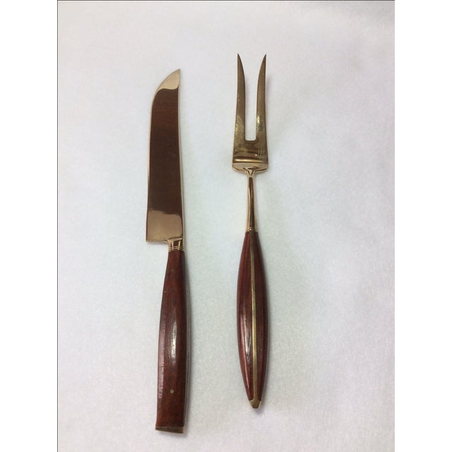 Thailand Frank Jewelers Bronze & Wood Flatware Set For Sale In Tampa - Image 6 of 10