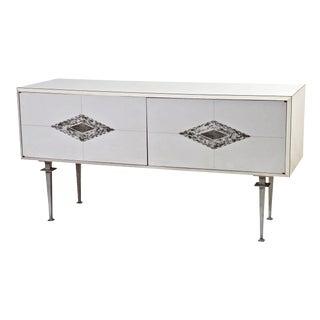 Paul Laszlo White Mid-Century Console For Sale