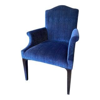 Century Furniture Trevor Armchair in Blue Velvet For Sale