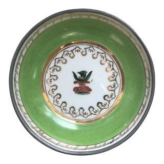 Green Lead Framed Porcelain Dish For Sale