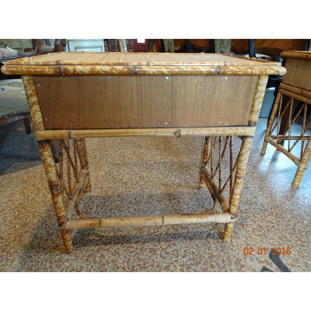 Pair of Vintage French Bamboo Tables For Sale In New Orleans - Image 6 of 10