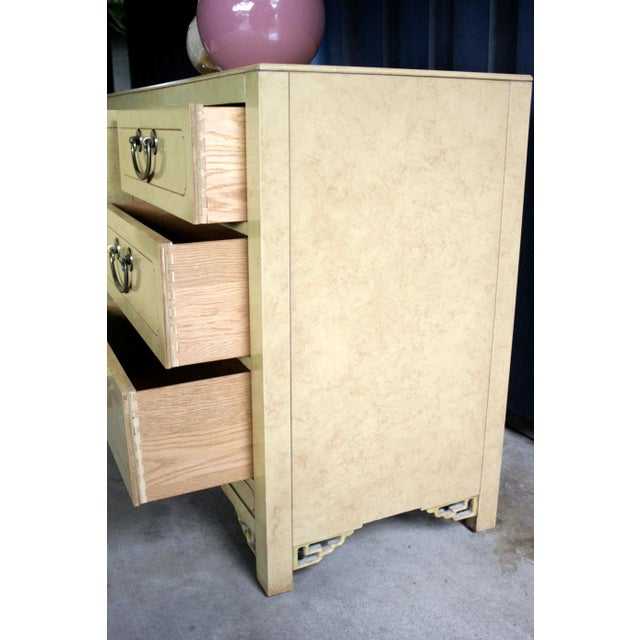 Faux Parchment Lacquered Chinoiserie Credenza For Sale In Dallas - Image 6 of 11