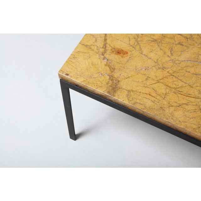 Iron Florence Knoll Marble & Black Steel Side Tables For Sale - Image 7 of 10