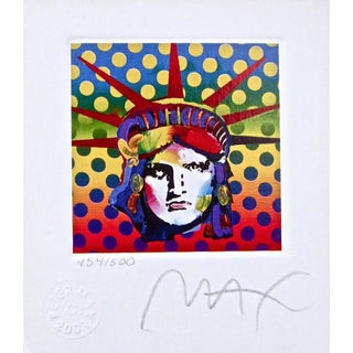 Peter Max Liberty Head V 2003 For Sale