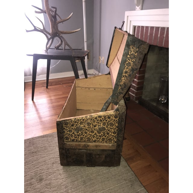 Antique Palica Common Sense Wood Trunk For Sale In Kansas City - Image 6 of 8