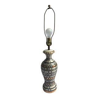 Vintage White Table Lamp For Sale