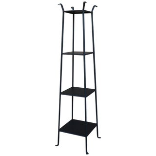 Black Metal Etagere with Graduated Shelves For Sale