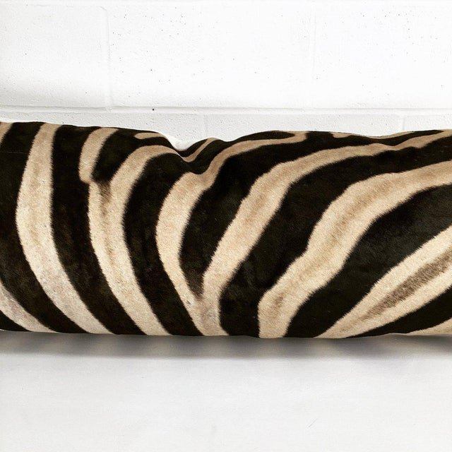 Contemporary Customizable Forsyth Luxury King Zebra Hide Pillow For Sale - Image 3 of 6