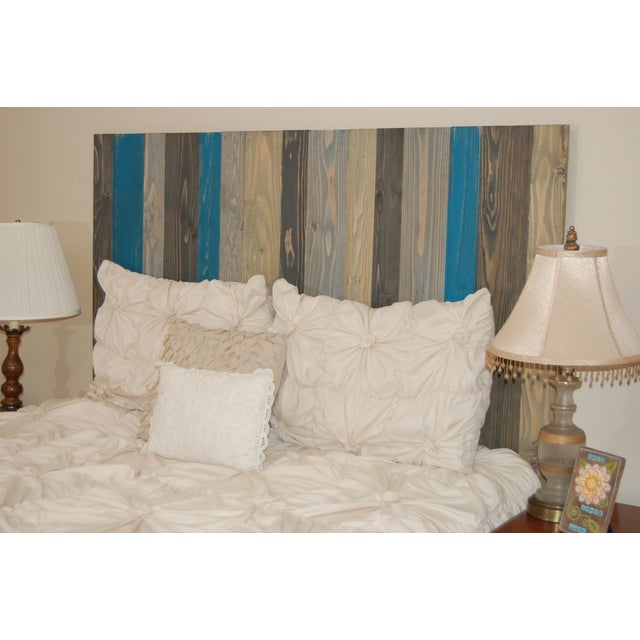Twin Hanger Barn Walls Headboard in a Winter MIX Design - Image 5 of 6
