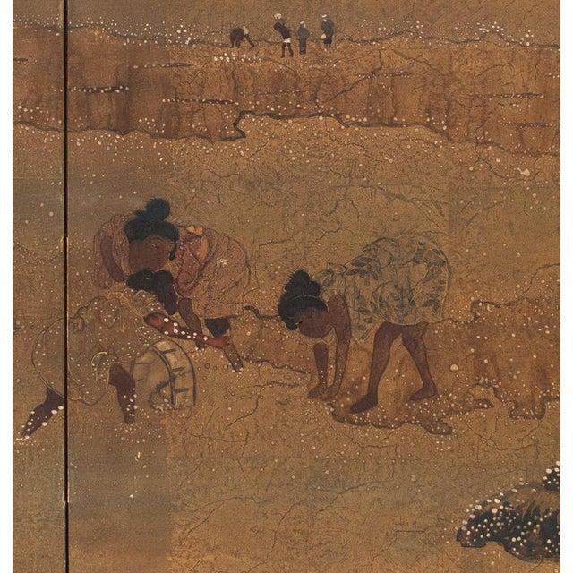 Brass 1880 Japanese Byobu Screen For Sale - Image 7 of 12