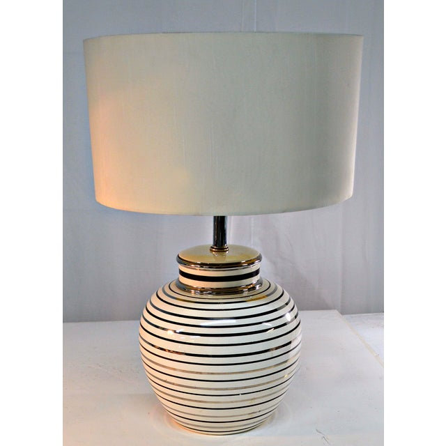 Mid Century Bowl Table Lamp & Drum Shade - Image 10 of 10