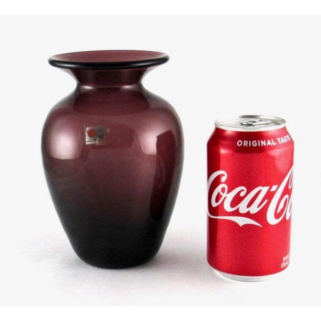 Amethyst 1980s Blenko Hand Blown Amethyst Glass Vase For Sale - Image 8 of 10