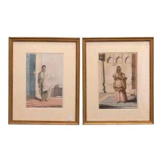 Early 19th Century Antique François Balthazar Solvyns Inspired Prints - A Pair For Sale