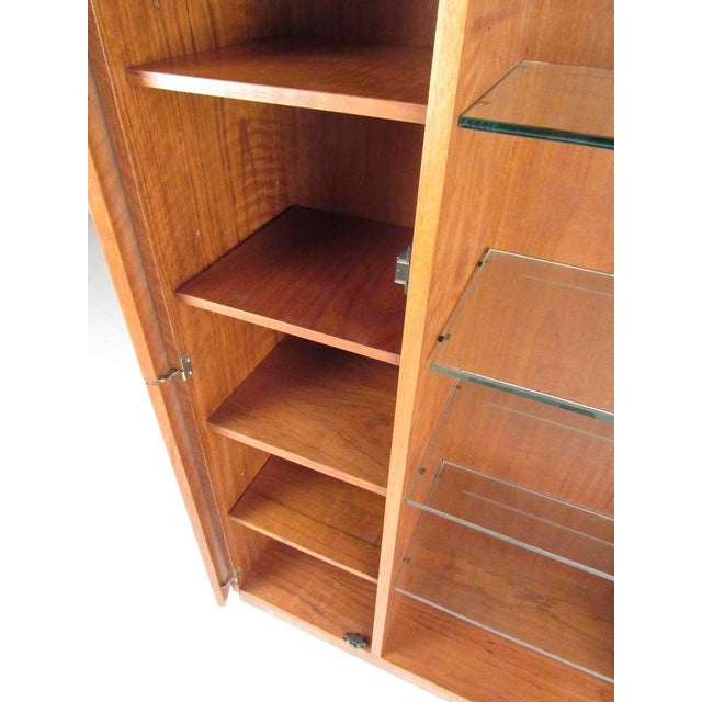 Late 20th Century Pair of Scandinavian Modern Teak Display Cabinets For Sale - Image 5 of 10