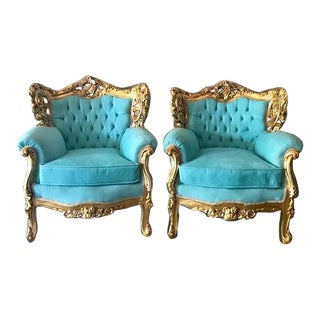 1940s Vintage Baroque Style Chairs - A Pair For Sale
