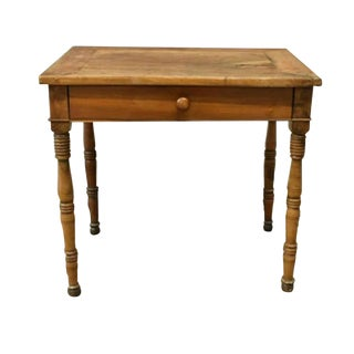 19th Century Rustic French Louis Philippe Period Work Table For Sale