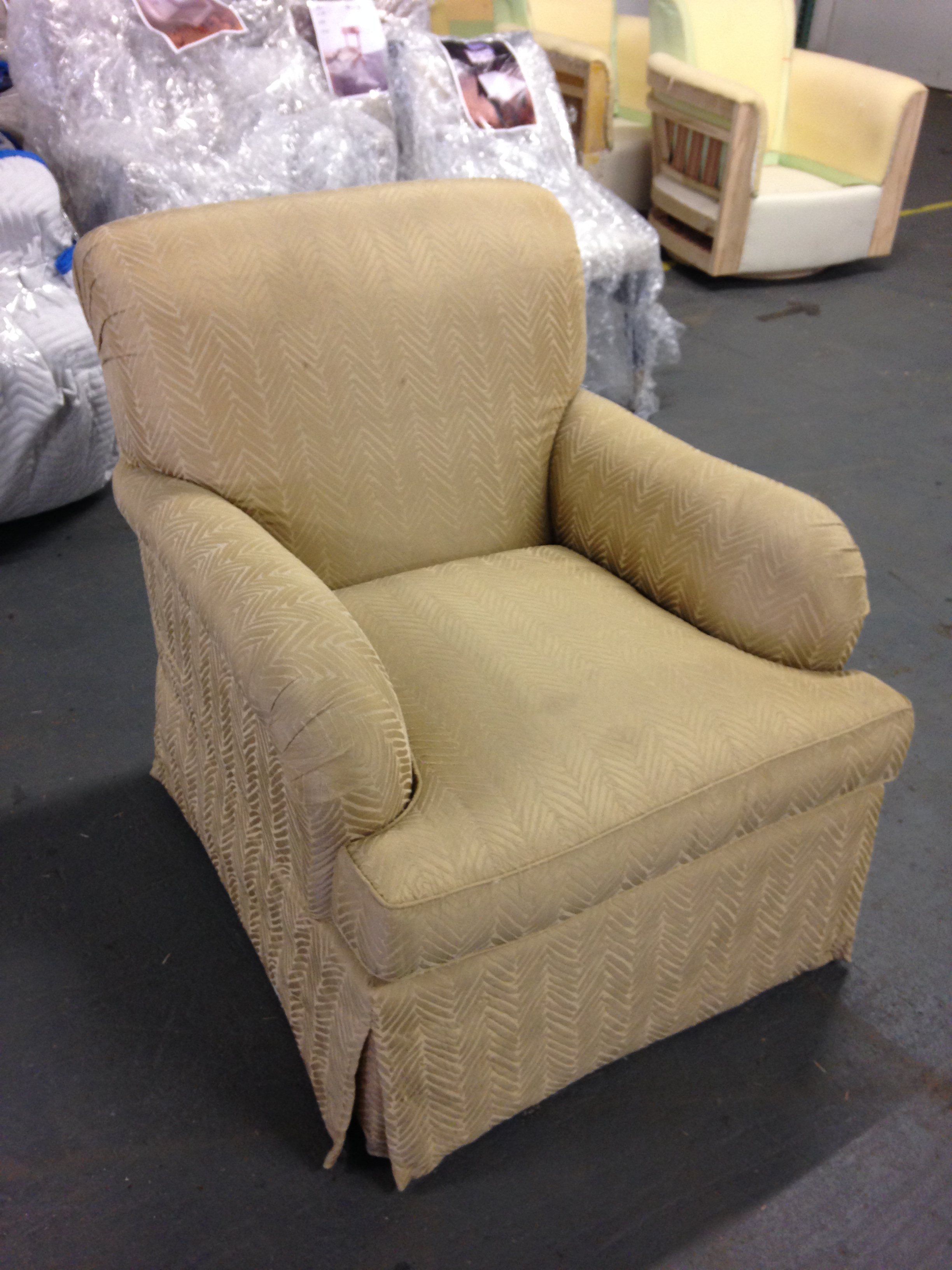 Skirted Club Chair For Sale   Image 4 Of 4