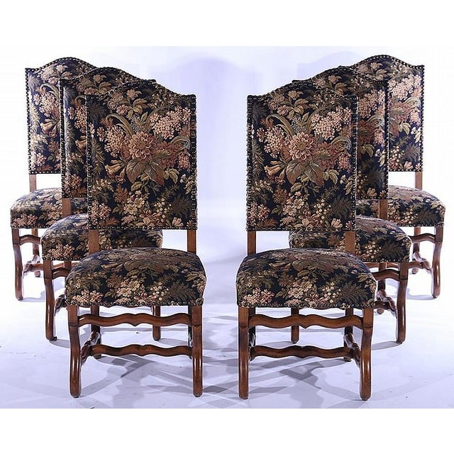 French Upholstered Dining Chairs - Set of 6 - Image 2 of 5