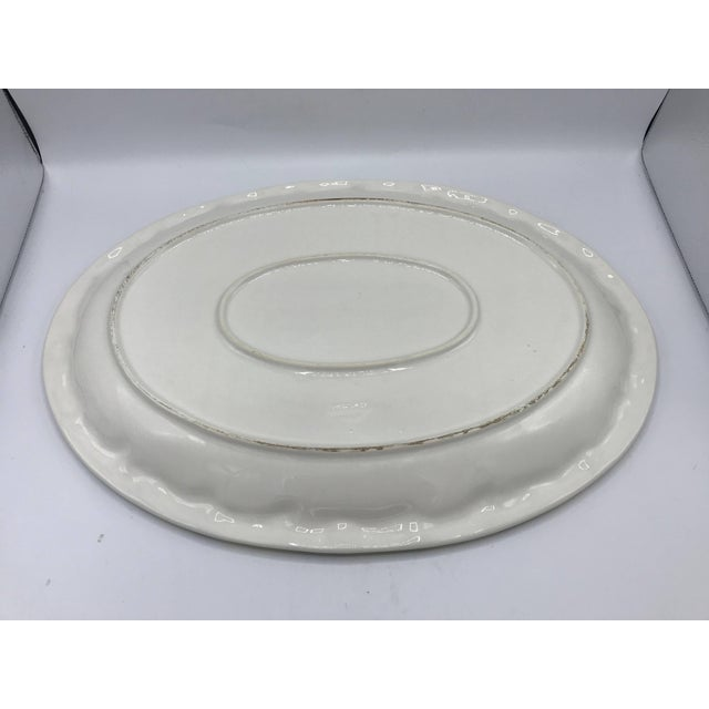 White 1960s Italian Ceramic Serving Tray With Sculptural Lemon Motif Border For Sale - Image 8 of 10