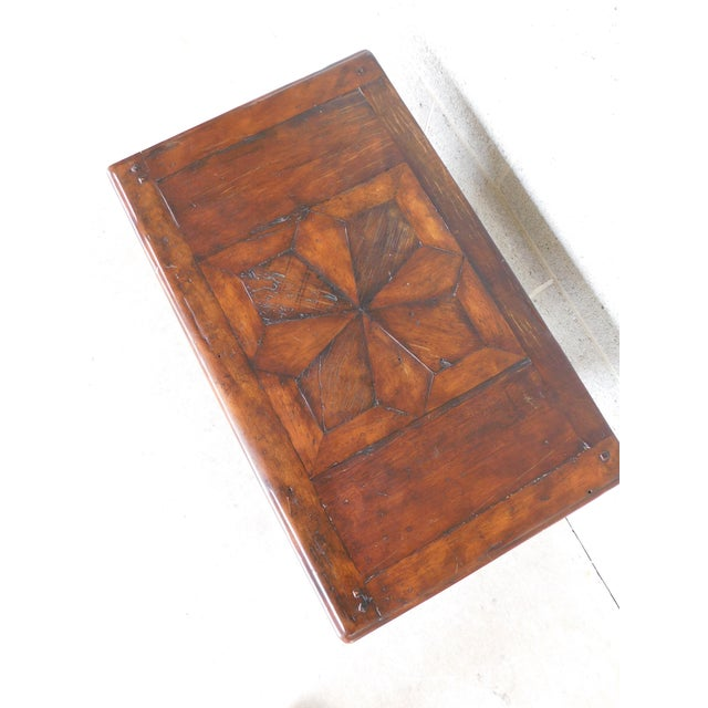 Brown Theodore Alexander Castle Bromwich Collection 1 Drawer Accent Table For Sale - Image 8 of 12