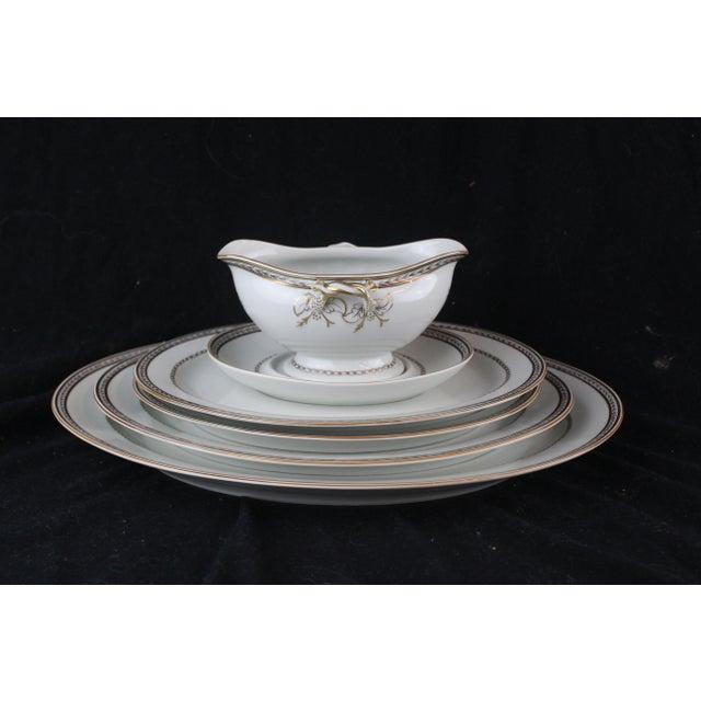 Gray Vista Alegre Platters & Gravy Boat - Set of 6 For Sale - Image 8 of 8