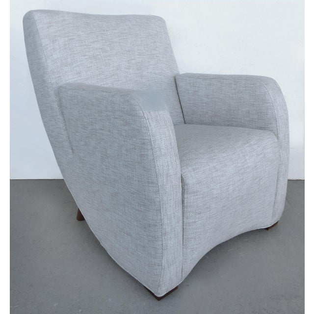 Mid-Century Modern Upholstered Club Chairs-a Pair - Image 3 of 10