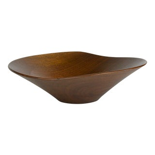 Rude Osolnik Mid-Century Walnut Bowl For Sale