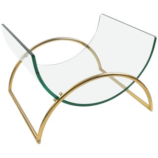 Gallotti and Radice Italy 1970s Sculptural Magazine Rack Holder For Sale