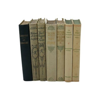 Antique French Decorative Books - Set of 7