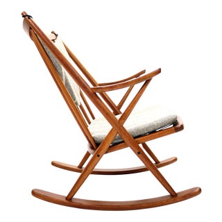 Vintage Frank Reenskaug for Bramin Mobler Danish Teak Rocking Chair For Sale