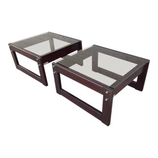 Percival Lafer Rosewood End Tables - A Pair For Sale