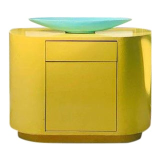Pill Shaped Nightstands in the Manner of Karl Springer-a Pair For Sale