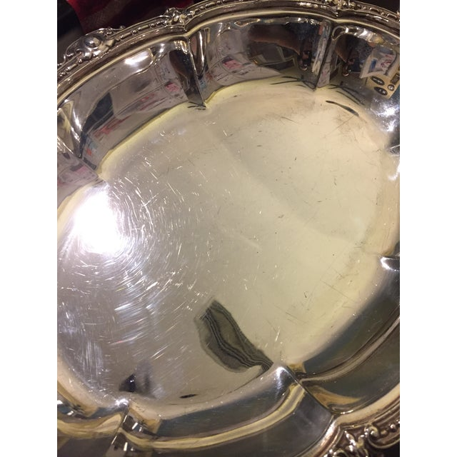 Antique Sheffield Silver Plate Scroll Borders & Armorial Crest Serving Dish With Cover For Sale - Image 11 of 12