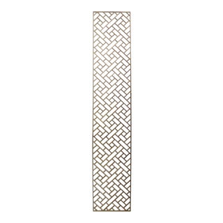Narrow Long Rectangular Plain Wood Geometric Pattern Wall Panel For Sale