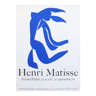 1970 Henri Matisse Vintage Poster, Grand Palais Cut Out
