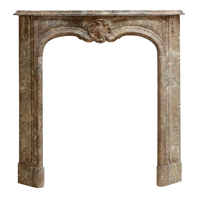 Beautiful Petite Marble Régence Style Fireplace Mantel For Sale