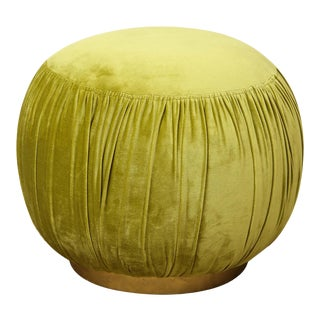 Small Green Pouf For Sale