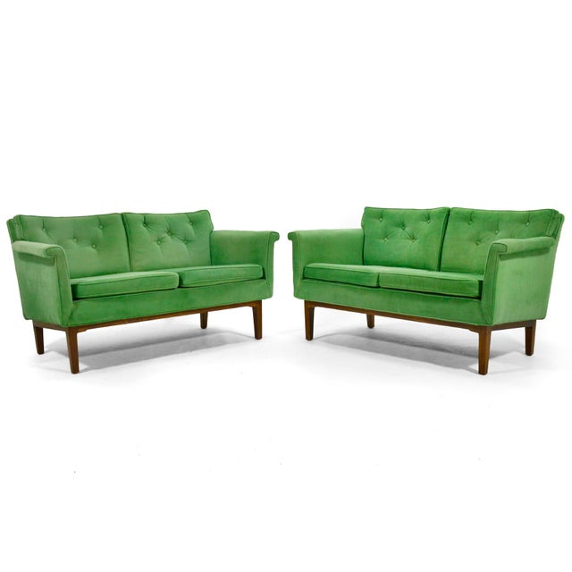 These lovely, lightly scaled sofas or loveseats designed by Edward Wormley for Dunbar, are not only an uncommon form,...