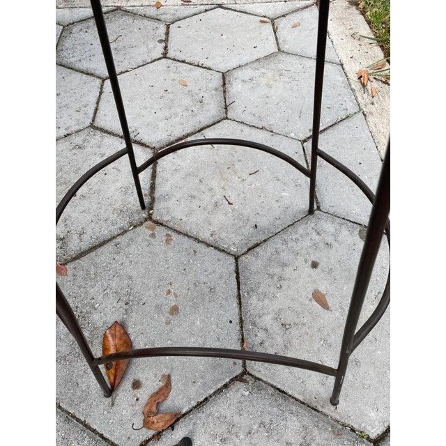 Mid Century Modern Arthur Umanoff Wicker Barstools- a Pair For Sale - Image 6 of 8