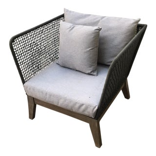 Modern Gray Patio Chair For Sale