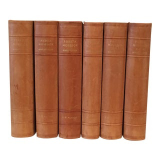 Vintage Leatherbound Books - Set of 6