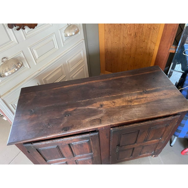 Antique Rustic French Country Louis XIV Hardwood Two Door Storage Cupboard For Sale In Minneapolis - Image 6 of 13