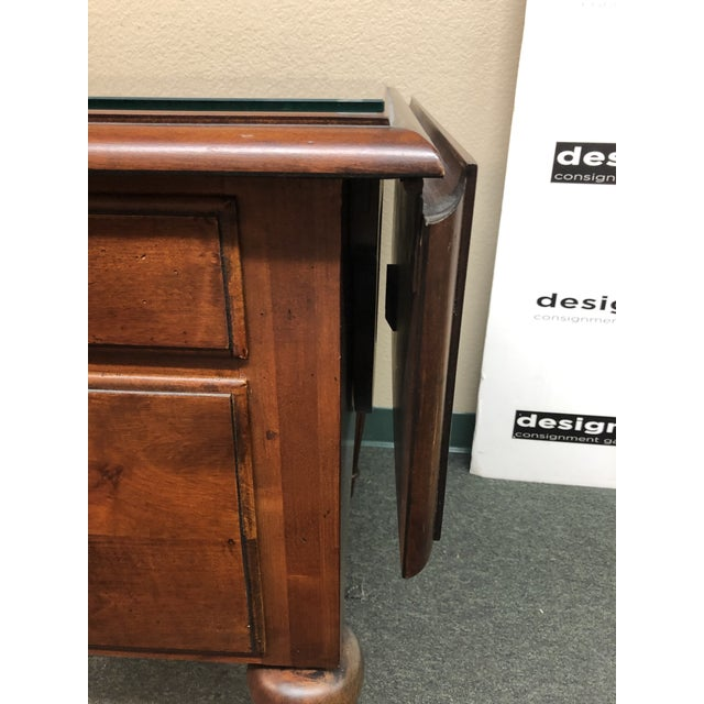 2000 - 2009 Ethan Allen Cherry Executive Desk For Sale - Image 5 of 10
