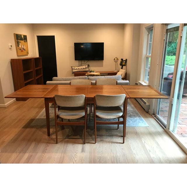 Mid-Century Dining Table & Chairs by Skovby & o.d. Mobler - Set of 5 For Sale - Image 9 of 13