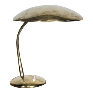 Large Copper and Brass Table Lamp by Leuchten, Circa 1950s For Sale