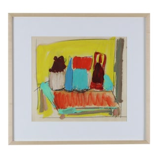 Mid 20th Century Still Life Oil Painting Paul Chidlaw, Framed For Sale
