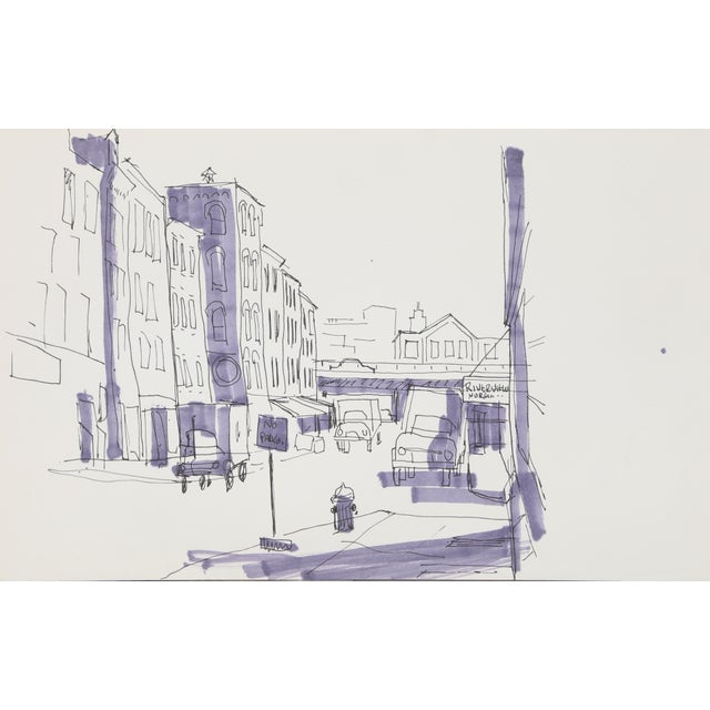 Contemporary Eve Nethercott, Riverview Nursing (P2.67), Ink on Paper For Sale - Image 3 of 3